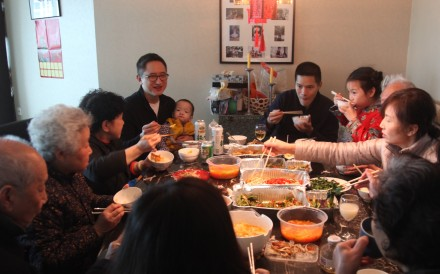 A family meal in Hao Wu's documentary All in My Family. Photo: Handout