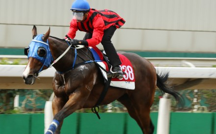 Karis Teetan dashes clear in a barrier trial on Montreal at Sha Tin recently. Photos: Kenneth Chan