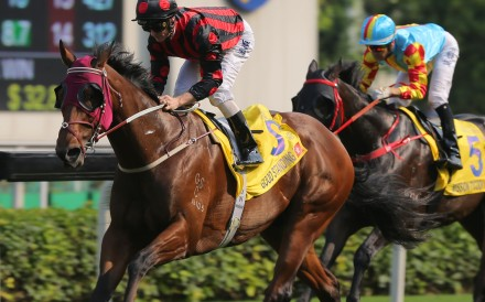 Zac Purton sits quietly on Good Standing as he goes on to win at Sha Tin on Saturday. Photos: Kenneth Chan