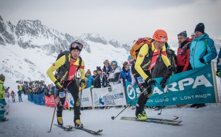 Andrea Gianni representing China at Adamello Ski Raid – the Italian is helping the sport grow. Photo: sportdimontagna.it