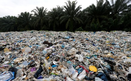 Plastic waste outside an illegal recycling factory in Kuala Langat, Malaysia. Photo: Reuters