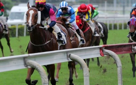 Thanks Forever runs away from Voyage Warrior to win at Sha Tin on Sunday. Photos: Kenneth Chan