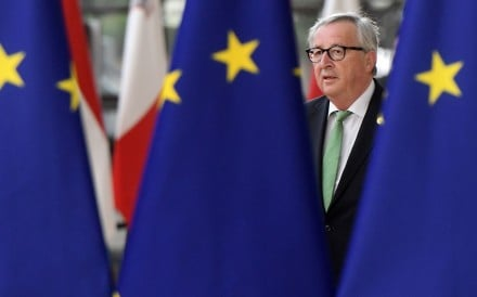 European Commission president Jean-Claude Juncker arrives for a European Union summit in Brussels on Tuesday. Photo: AFP