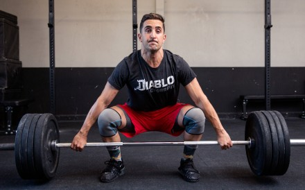 Payam A. Saljoughian working out at his Diablo CrossFit box in the San Francisco Bay Area. Photo: Handout