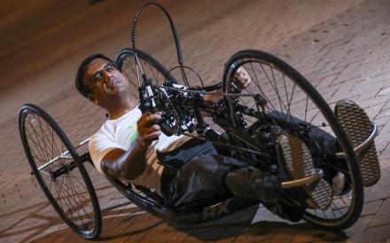 Ajmal Samuel plans to hand-bike more than 2,500km through northern China in less than 40 days. Photo: May Tse