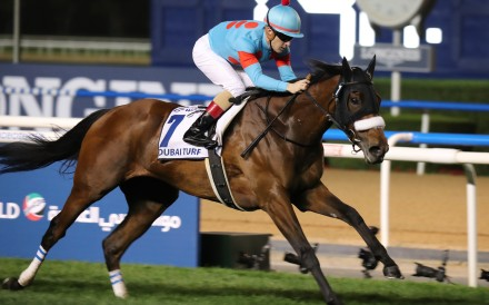 Almond Eye wins under Christophe Lemaire in Dubai in March. Photos: Kenneth Chan