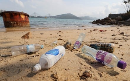 Plastic bottles found on Hong Kong's beaches could have drifted in from the region. Photo: Winson Wong