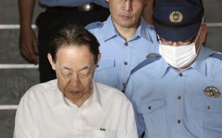 Hideaki Kumazawa was arrested on Saturday after allegedly killing his 44-year-old son. Photo: Kyodo