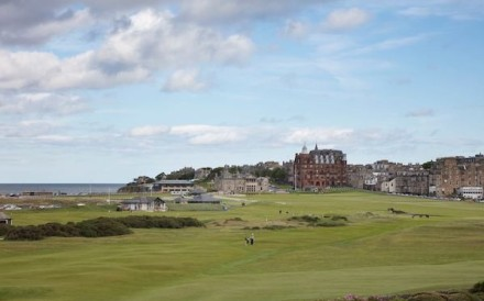If your dad spends his days at the driving range or simulator, he has probably dreamed of playing the Old Course at St Andrews in Scotland – known as the home of golf for a reason. Photo: The Old Course Hotel