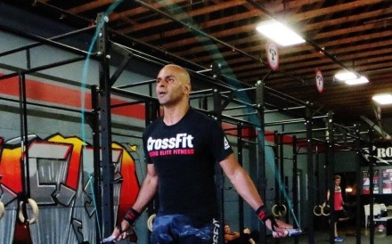 Amit Tripuraneni, working out in New Zealand, has been documenting CrossFit's rise in Asia. Photo: Handout