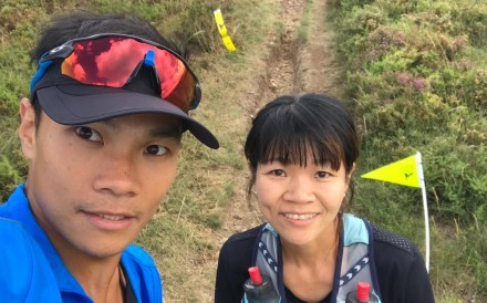 Wong Ho-chung and Leung Ying-suet representing Hong Kong at the Trail World Championships in Portugal, where the level of competition surprises Wong. Photos: Handout