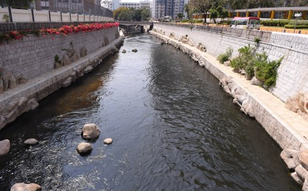 Kai Tak River's levels of two antibiotics were found to exceed safe levels by up to five times. Photo: SCMP Pictures