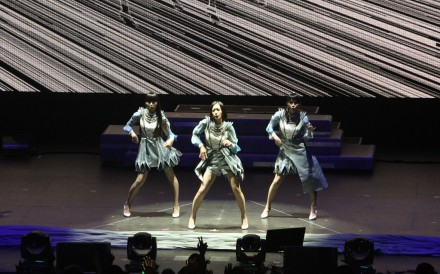 J-pop girl group Perfume performing in San Jose, California in April. Perfume's tour in the US was a big step for Japanese music outside Asia. The band's appearance at the Coachella Valley Music and Arts Festival was well received, with Rolling Stone magazine naming their performance one of the 16 best performances at the music event. Photo: Jason Yu