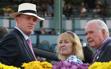 Trainer John Gosden (left) looks on at the Breeders' Cup last year. Photo: California Christian Petersen/Getty Images/AFP