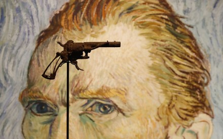 The Lefaucheux revolver believed to be the gun used by Dutch painter Vincent van Gogh to kill himself in France in 1890 will be auctioned in Paris on Wednesday. Photo: AFP