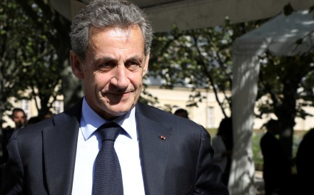 Former French President Nicolas Sarkozy attends a national in Paris to pay tribute to the victims of militant attacks. Photo: Reuters