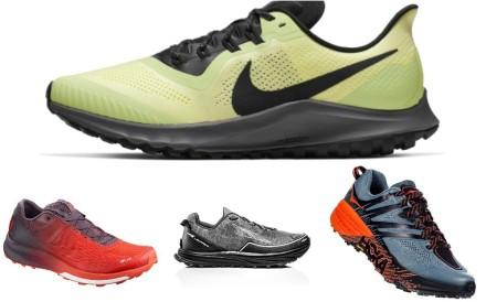 La Spotiva, Merrell, Inov 8, Nike, Salomon, Altra and Hoka One One trail shoes. Photos: Handouts