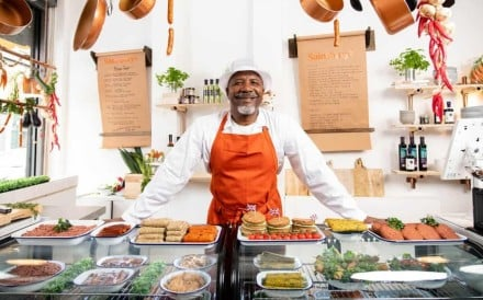 Anthony Maynard, one of the staff at the Sainsbury's meat-free butcher's shop – a three-day initiative by the British supermarket chain to show the wide selection of vegan foods now available – in Shoreditch, London. Photo: PA