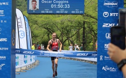 Oscar Coggins is one step closer to representing Hong Kong in the triathlon at the 2020 Summer Olympics in Tokyo. Photo: Handout