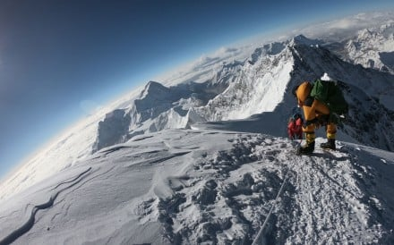 Mountaineers make their way to the summit of Mount Everest. Photo: AFP