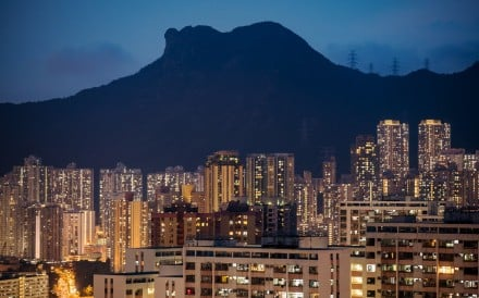 Lion Rock at dusk in Hong Kong, a symbol of the trail running community – self-sufficient and welcoming. Photo: Bloomberg