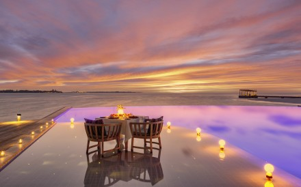 Those in search of Zen without the kids could find it at a romantic dinner table set for two like this one at the Kudadoo Maldives Private Island. There is a growing demand for adult-only resorts away from the rat race and more resorts are beginning to cater for this market.