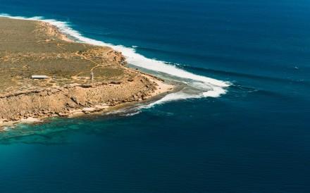 Cape Inscription, where Dirk Hartog left his plate on the Western Australian island that bears his name in 1616. Photo: Dirk Hartog Island