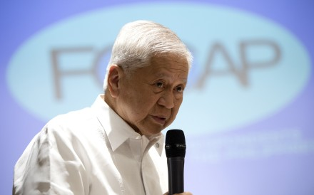 Albert del Rosario – pictured in 2015, during his time as the Philippines' foreign affairs secretary – was denied entry to Hong Kong on June 21 and sent home. Photo: AFP
