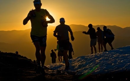 Runners crest Emigrant Pass at the Western States 100. Photo: Alamy