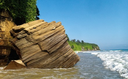 A cliff formation on volcanic Weizhou Island, southern China. Photo: Martin Williams