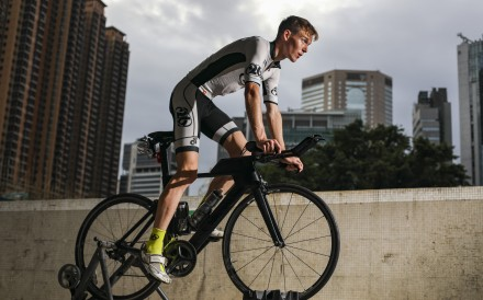 Triathlete Oscar Coggins is Hong Kong's top hope concerning the triathlon race at the 2020 Tokyo Olympics. Photo: Xiaomei Chen