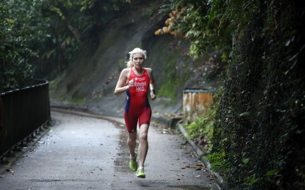 Triathlete Kate Rutherford, a mother of two, has to overcome stereotypes in her career as a coach. Photo: Jonathan Wong