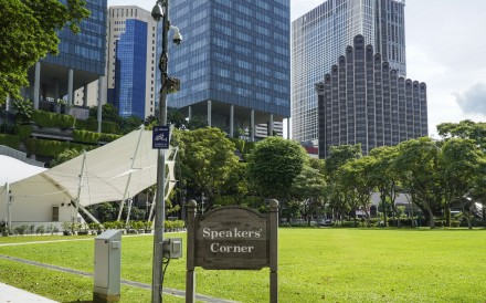 Speakers' Corner, Singapore's free speech area where the people may demonstrate and air their grievances. Singaporeans place a bigger premium on social harmony and tolerance. Photo: Roy Issa