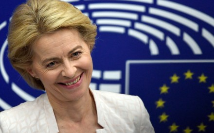 German Defence Minister Ursula von der Leyen at a press conference after she was elected as the new president of the EU Commission. Photo: DPA