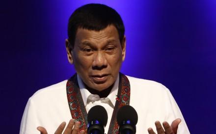 Philippine President Rodrigo Duterte delivers a speech in Manila on July 12. Photo: EPA