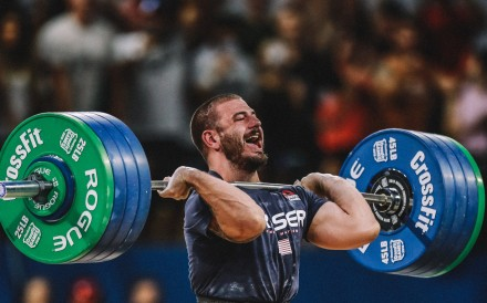 Mat Fraser's emphatic win during the one-rep max clean event proves his is a cut above the rest. Photo: Duke Loren