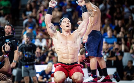 Noah Ohlsen showed Mat Fraser is (somewhat) human in stealing his leader jersey for part of the CrossFit Games. Photo: CrossFit