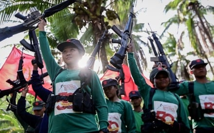 Fighters for the communist New People's Army in the mountains of Sierra Madre in the Philippines. Photo: EPA