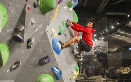 Sport climber Yau Ka-chun hopes to qualify for the 2020 Olympics. Photo: Xiaomei Chen