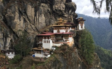Bhutan's sacred Buddhist site of Paro Taktsang monastery, also known as Tiger's Nest, is a big tourist attraction in the nation which will see its first wine vineyards harvest grapes in the autumn of 2020.