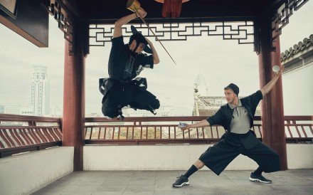 Ash Dykes is the first person to walk the length of the Yangtze. Mid-journey, he was asked to be part of an Adidas photo shoot for GQ to promite Jet Li's Wuji product. Photo: Handout