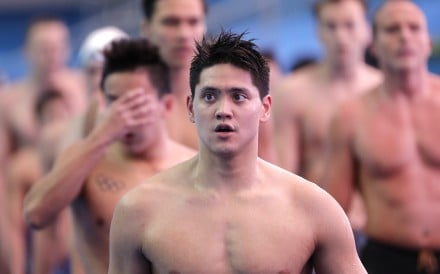Singapore's Joseph Schooling leaves the pool at the 2019 World Swimming Championships. Photo: AP