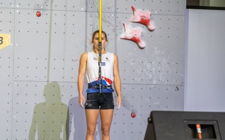 Shauna Coxsey has earned a spot at the Olympics, along with a host of other climbers, before the finals even begin. Photo: Eddie Fowke - IFSC