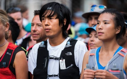 Qi Min and Yao Miao line up for the CCC 2018. They are back for the full UTMB this year and the secret is out: they are among the favourites. Photo: Jack Atkinson