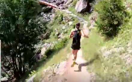 Ruth Croft dominating the OCC at the UTMB, again. Photo: UTMB TV