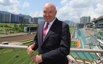 David Hayes poses for photos at Sha Tin after being announced as a trainer for the 2020-21 season. Photos: Kenneth Chan