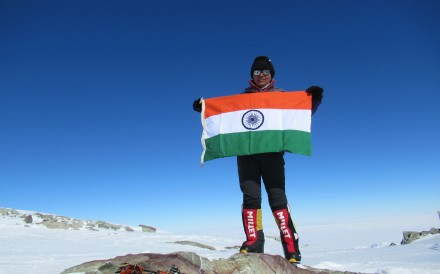 Indian Amputee climber Arunima Sinha summits Mt Vinson in Antarctica. Photo: courtesy of Arunima Sinha