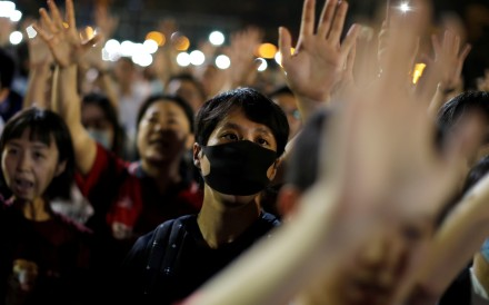 Anti-government demonstrators protest at Victoria Park, Hong Kong, on September 18. No matter how the current mess ends, the tens of thousands of Hongkongers who hold other passports are now looking to leave the city. Photo: Reuters