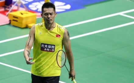 Lin Dan continues to struggle with his form a year out from the Tokyo Olympics. Photo: Xinhua