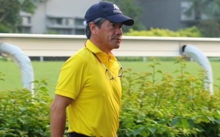Hong Kong Bet's trainer Tony Cruz at Sha Tin on Thursday morning. Photos: Kenneth Chan